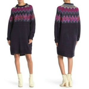Solutions Knit Sequin Sweater Dress